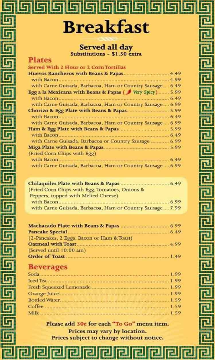 Blanco Cafe Restaurant Menu In San Antonio
