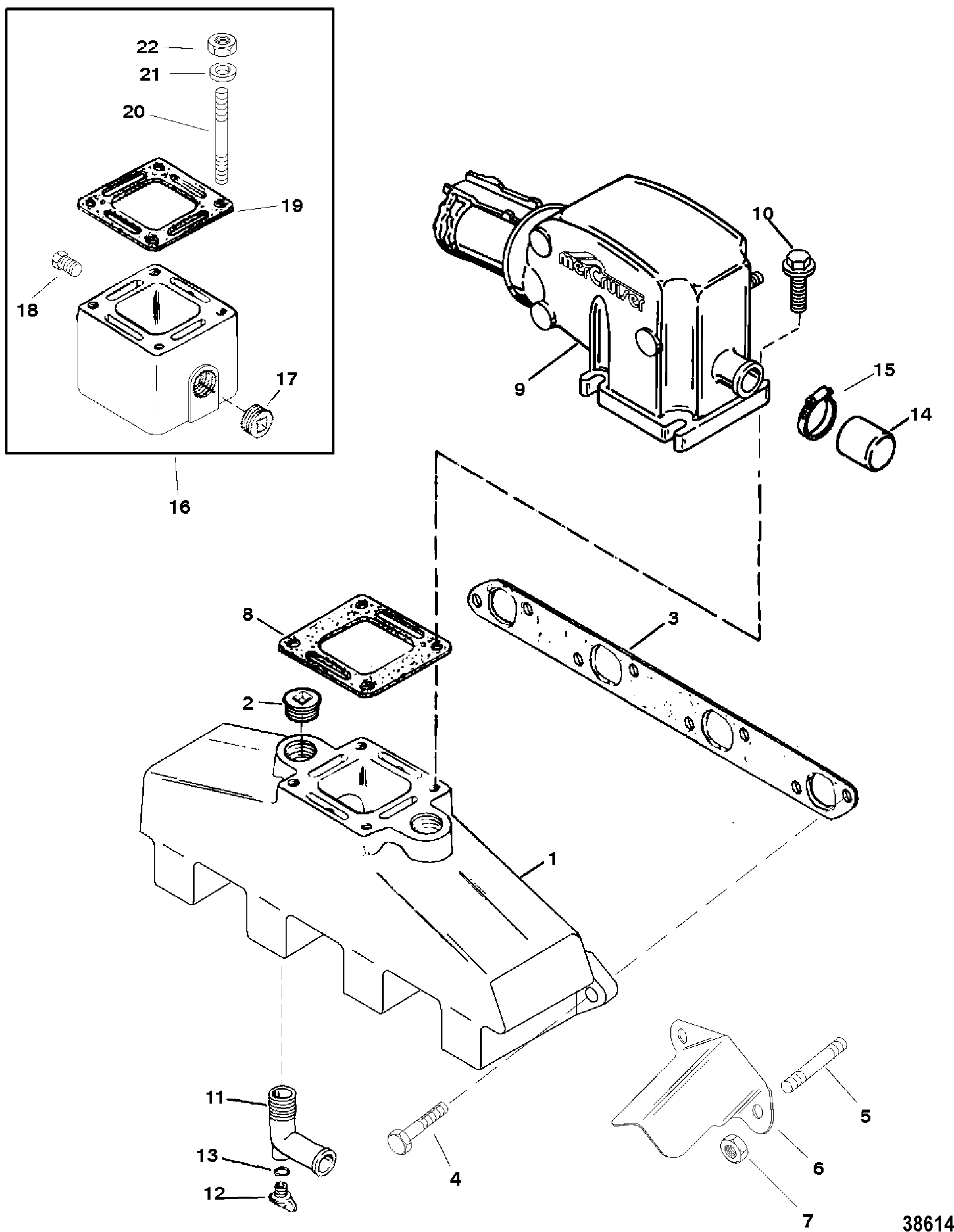 Exhaust manifold and exhaust elbow