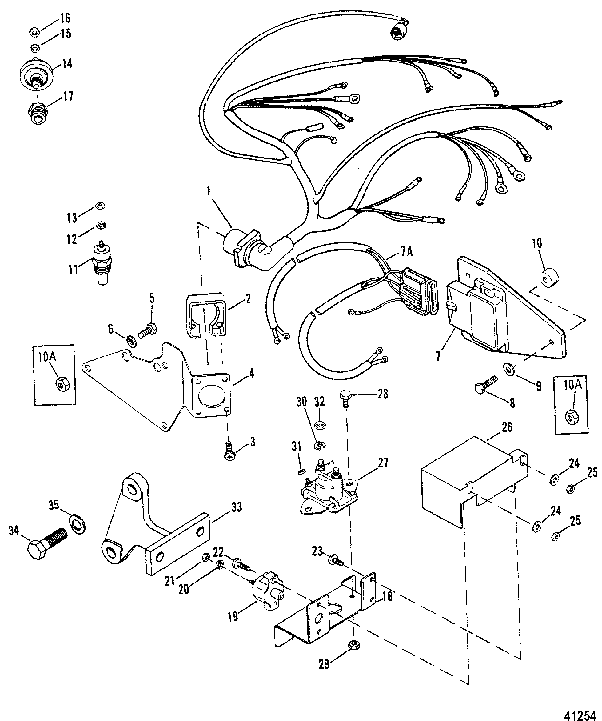 Wiring harness electrical ignition