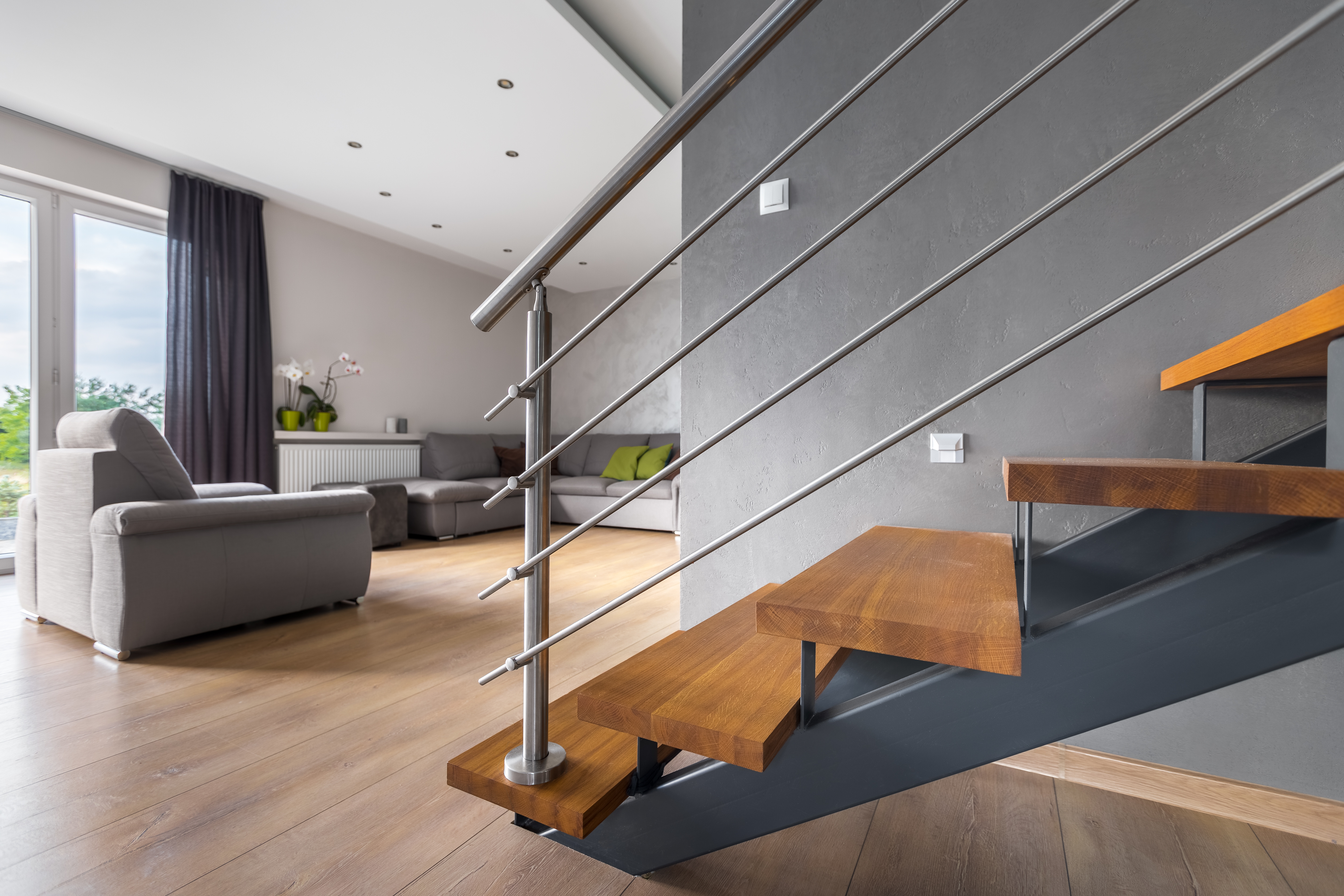 Staircase Railing Styles That Will Elevate Your Design Merit | Staircase Handrail Glass Designs | Frosted Glass | Curved | Glass Baluster | Glass Painting | Glass Etching