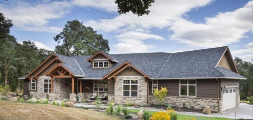 Jaw Dropping Mix of Ranch   Craftsman Style Home  HQ Plan   Pictures     Exquisitely beautiful home with a combination of ranch and craftsman style  home plan