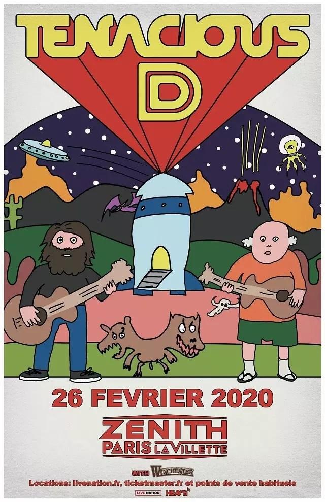 Tenacious D annonce 1 concert en France pour 2020 - MetalZone