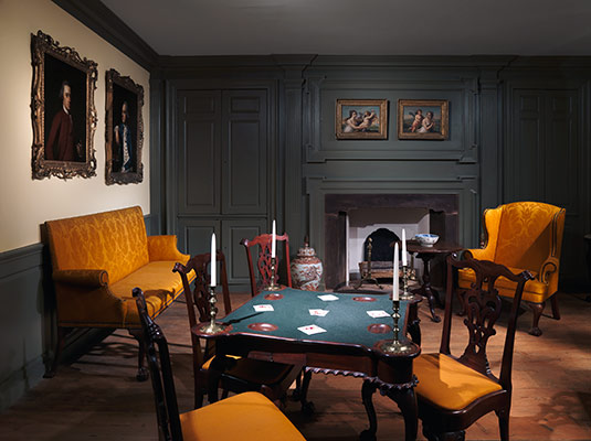 American Georgian Interiors  Mid Eighteenth Century Period Rooms     Woodwork of a Room from the Colden House  Coldenham  New York