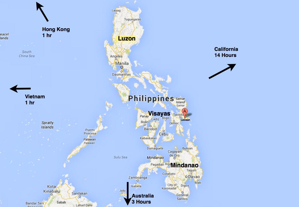 Map Eastern Samar Philippines Lawaan