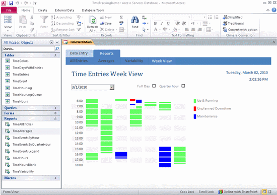 Time Tracking Database Template Time Amp Billing Template