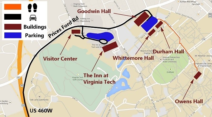 Owens Hall Virginia Tech Campus Map