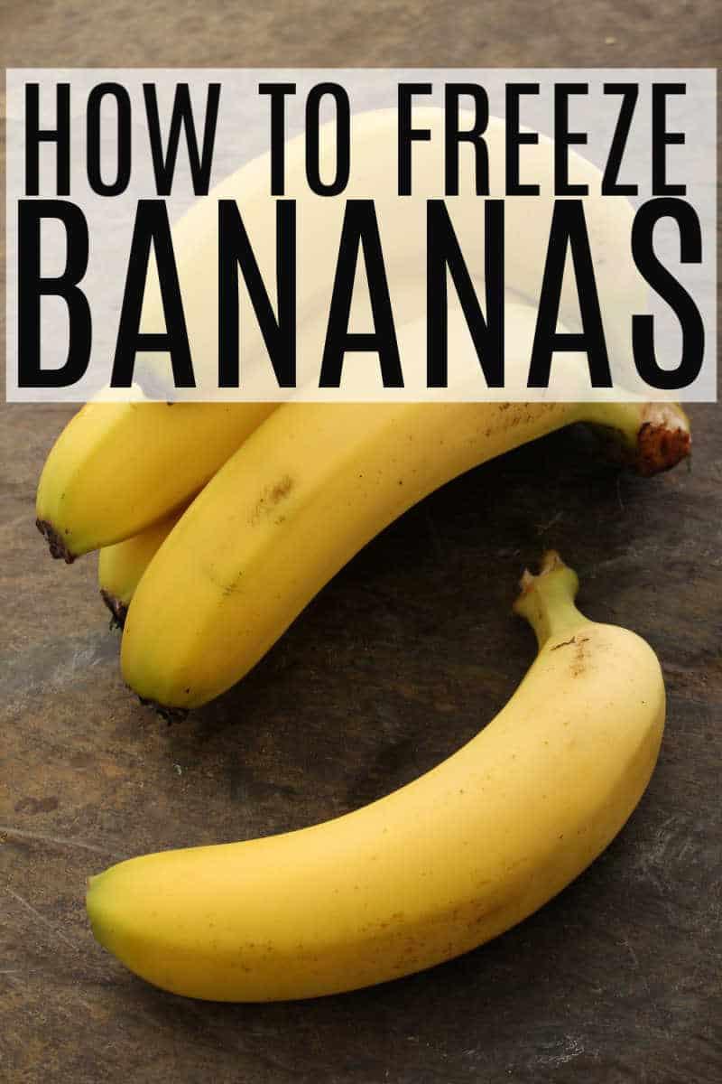 How to Freeze Bananas - Bundle of Bananas