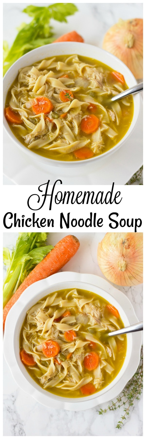 Homemade Chicken Noodle Soup Homemade Soup Recipe