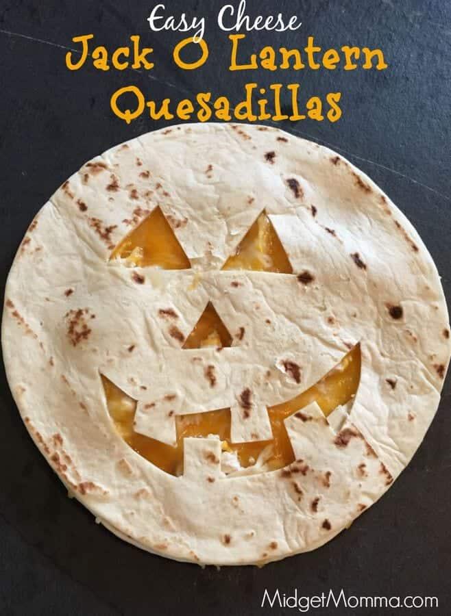 Jack O Lantern Quesadillas Halloween Lunch