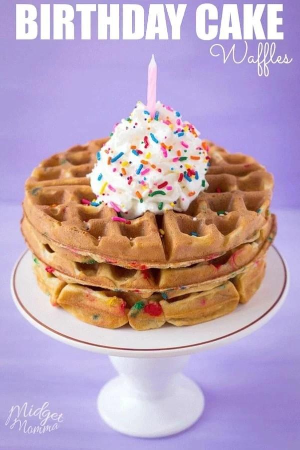 Funfetti Birthday Cake Waffles
