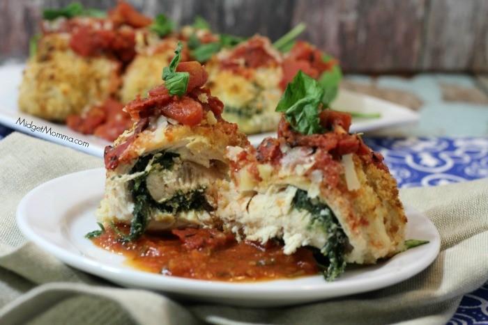 Spinach Ricotta Chicken Roll Up