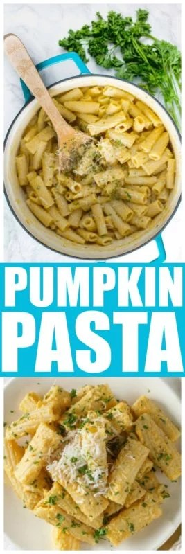 Pumpkin Pasta sauce is an easy pasta dinner recipe that is great for fall. Easy to make homemade pasta sauce with the amazing flavor of pumpkin. #Pumpkin #PumpkinPastaSauce #PumpkinPasta