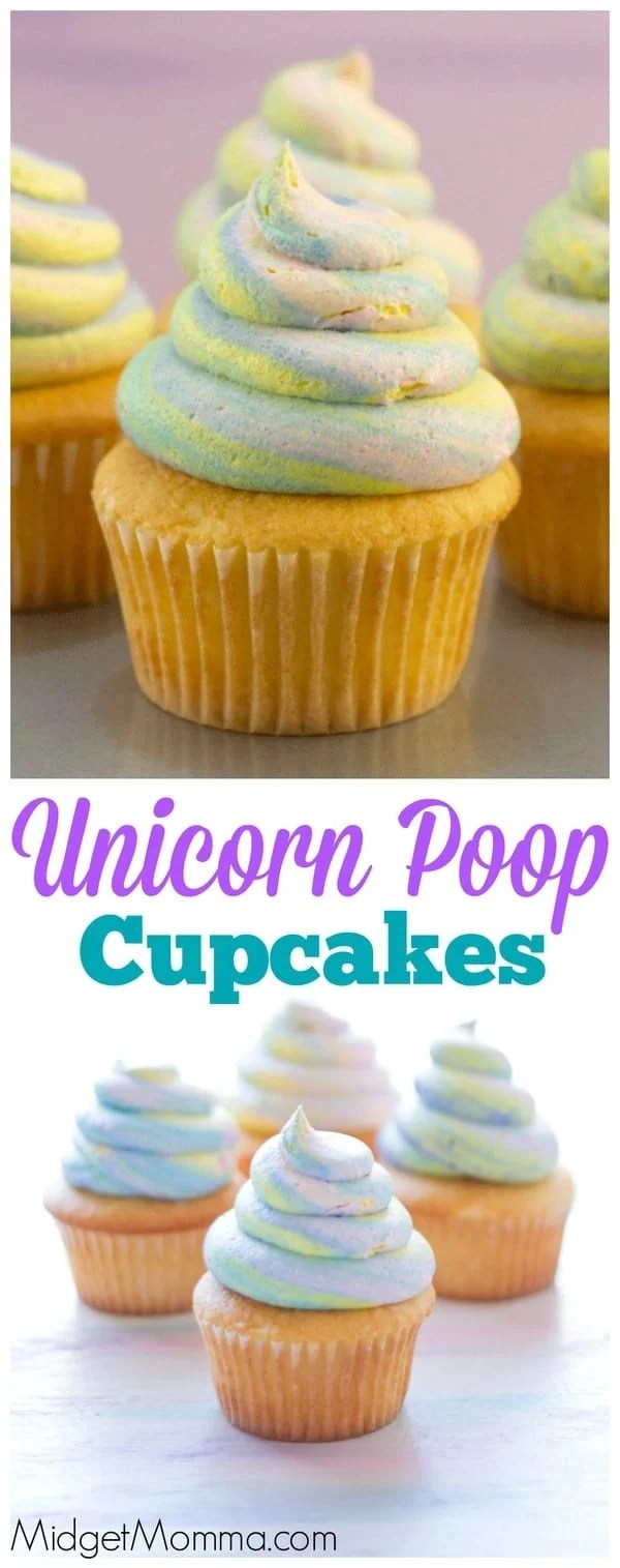 Unicorn Poop Cupcakes The Trick To The Unicorn Swirl