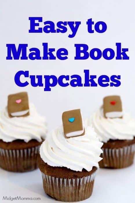 Book Cupcake Homemade Cupcakes With Fondant Books