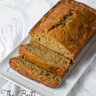 If you are looking for an amazing Zucchini Bread recipe then you do not want to miss this homemade zucchini bread. It is a moist zucchini bread made with fresh zucchini! The perfect recipe to use up any extra zucchini that you have! #Zucchini #bread #MoistBread #ZucchiniBread