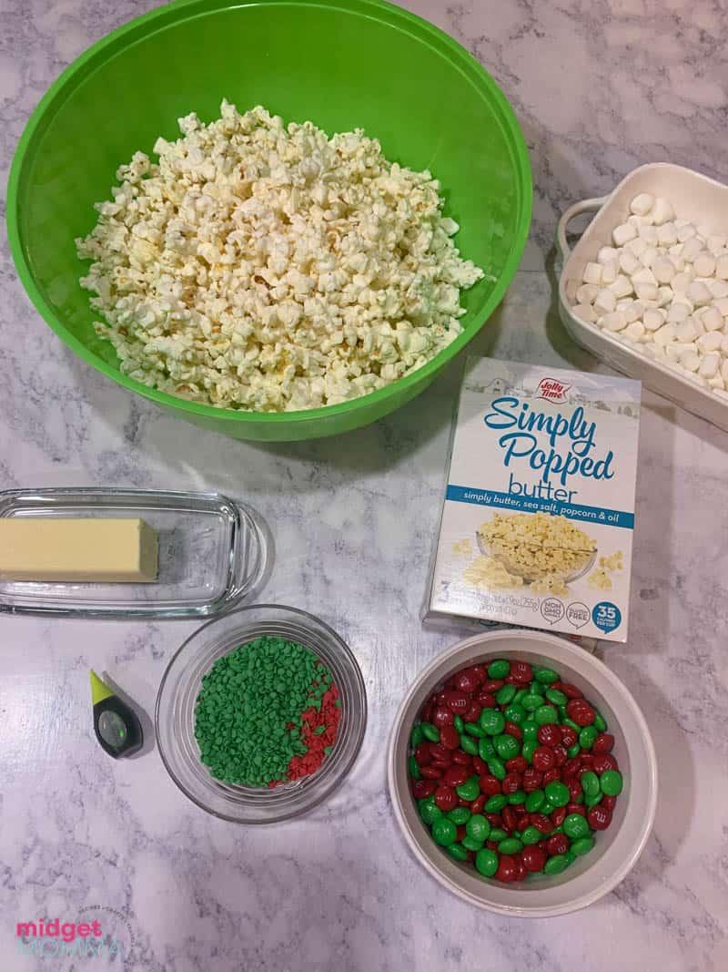 Grinch popcorn balls ingredients