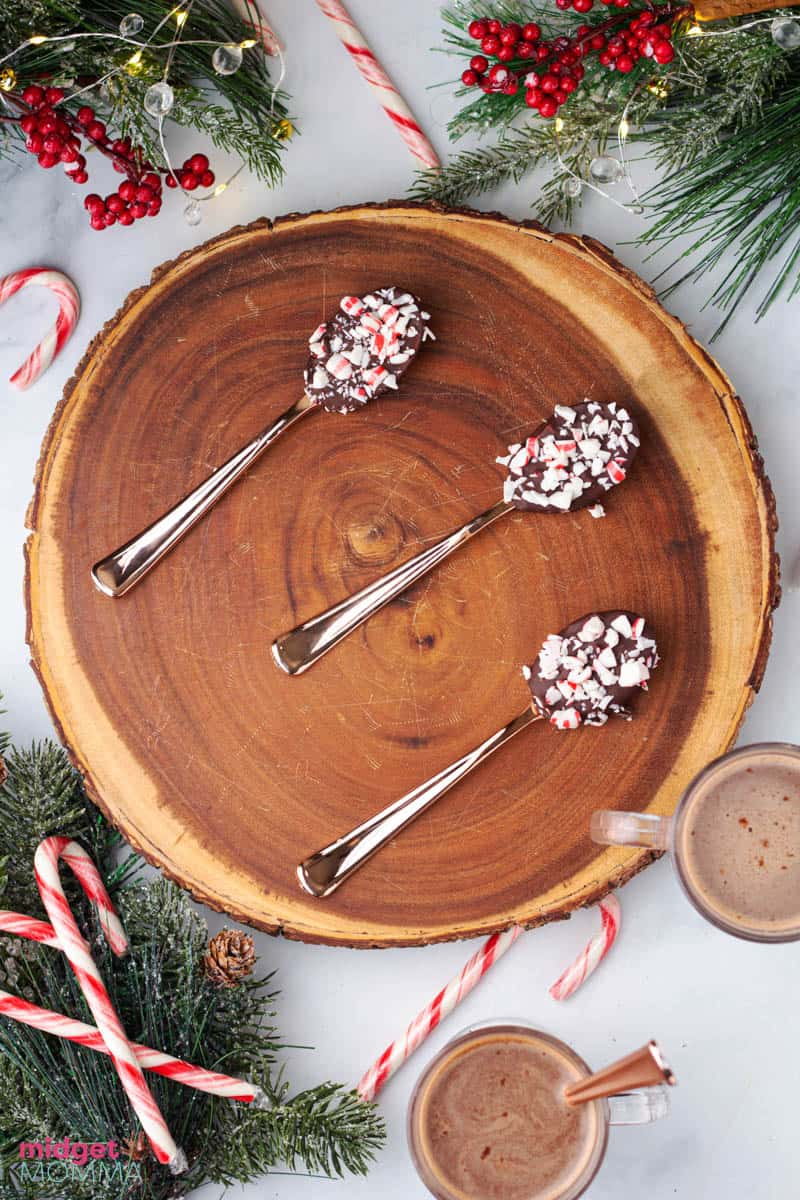Peppermint Hot Chocolate Spoons