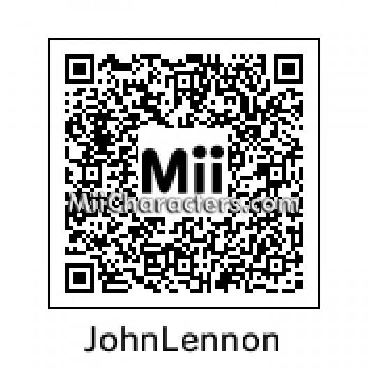 Qr Codes Mii Lennon John
