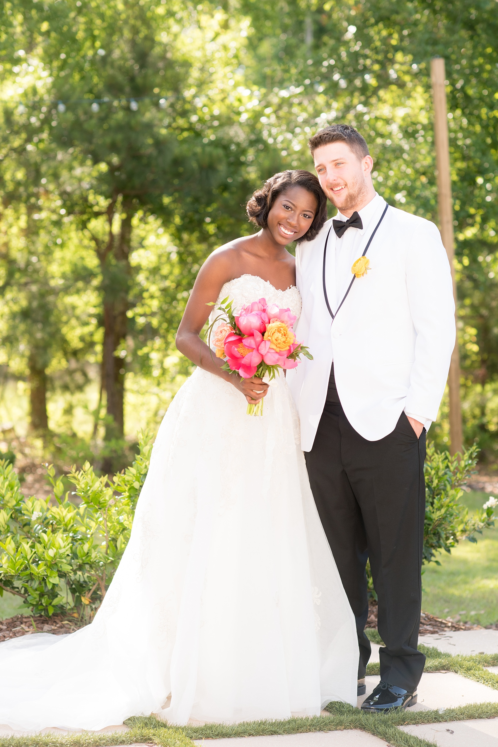 The Bradford Wedding Photos Peach Coral And Yellow Wedding Inspiration Raleigh And Nyc