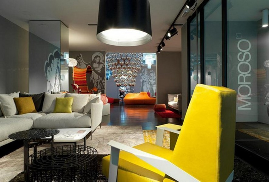 Milan Interior Design furniture Shops  part 1  Moroso Milan Showroom  interior design furniture shops Milan interior design  furniture shops  part 1