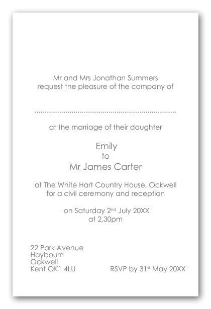 Order Service Wedding Examples