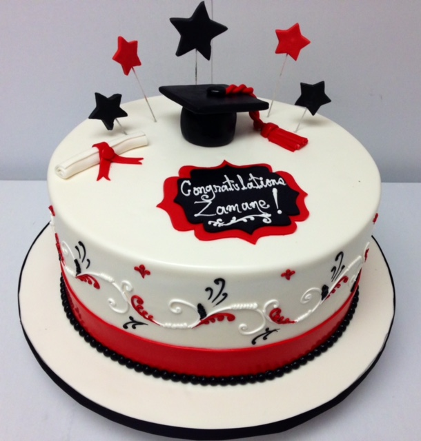 And Cake Blue Sheet White Red