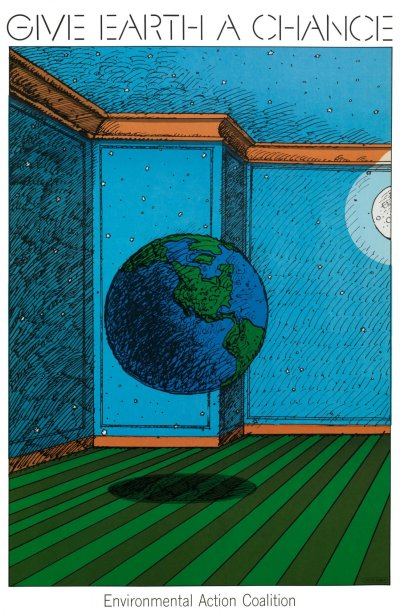 Milton Glaser | Store | Give Earth a Chance, 1970