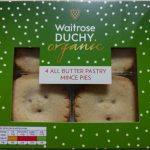 Waitrose Duchy Organic All Butter Pastry Mince Pie Box