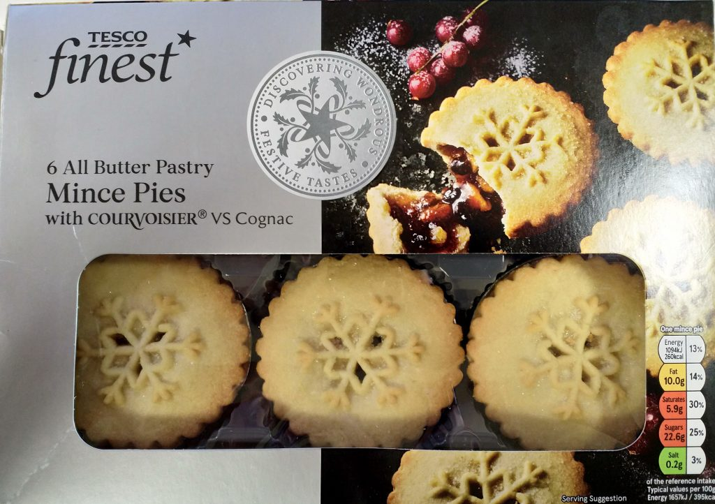 2019 Tesco Finest All Butter Pastry Mince Pies Box Front