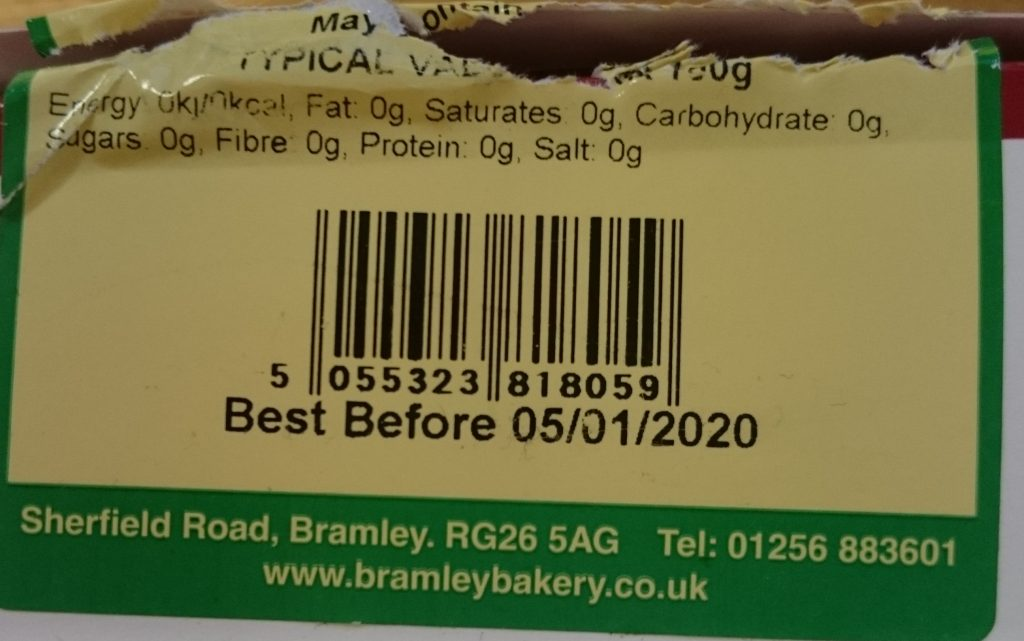 2019 Bramley Village Bakery Shortcrust Mince Pies Best Before Date