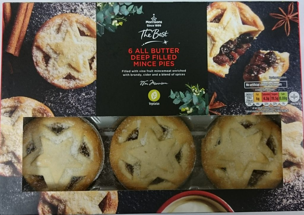 2019 Morrisons The Best All Butter Deep Filled Mince Pies Box Front