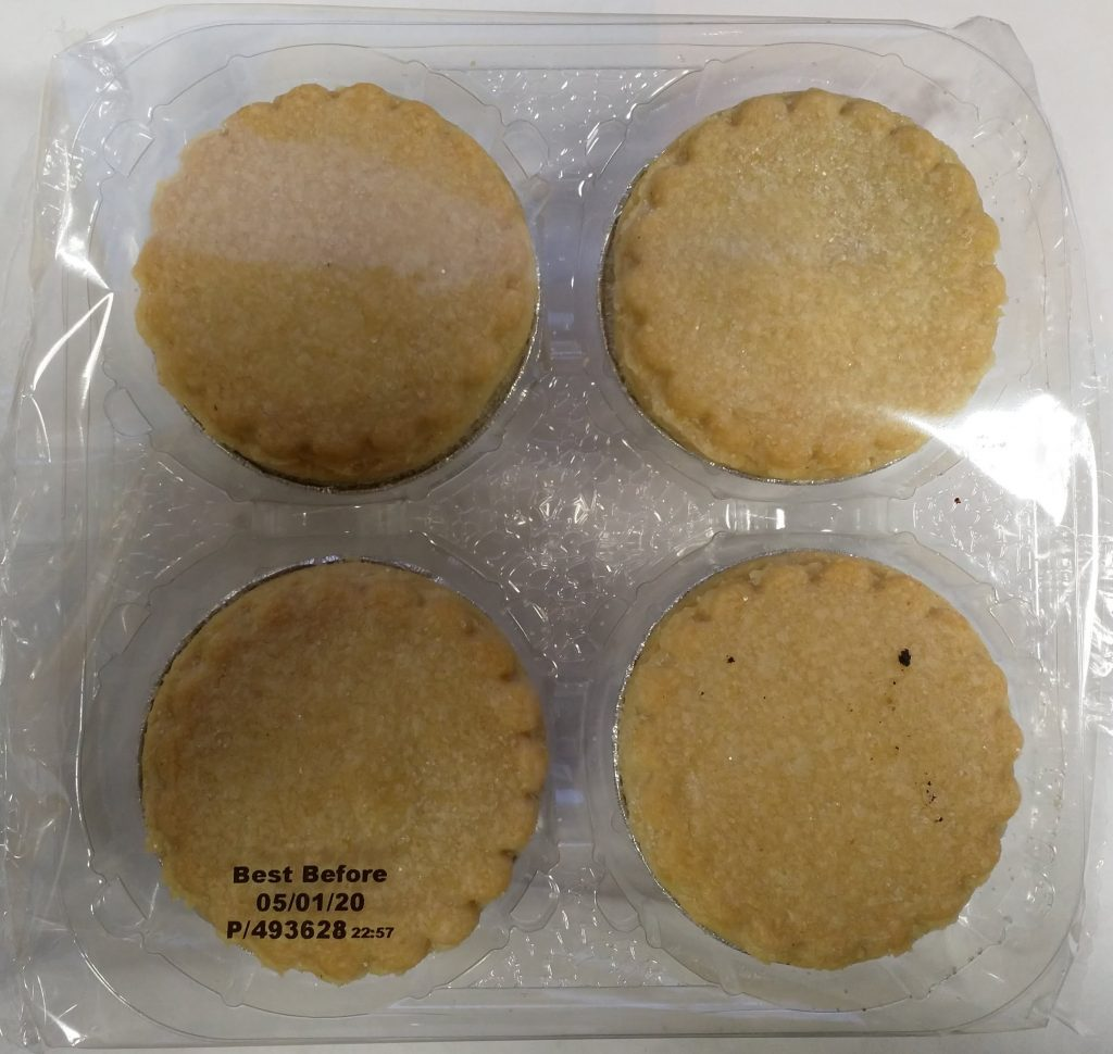 2019 Co-op Free From 4 Mince Pies Packaging