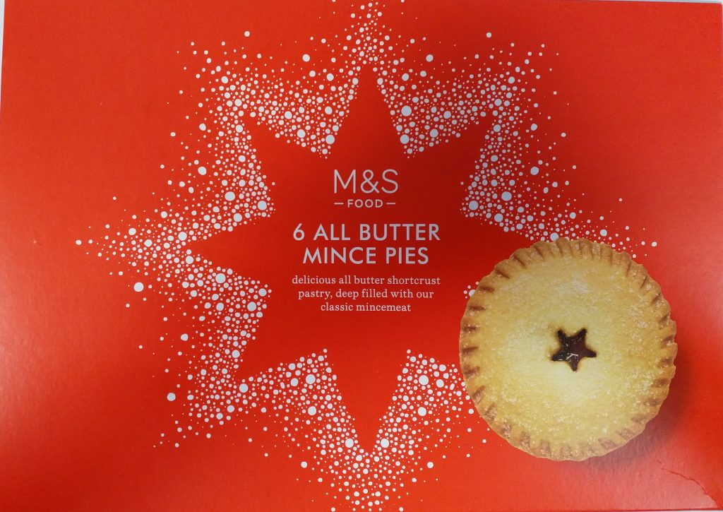 2019 M&S All butter Mince Pies Box 1
