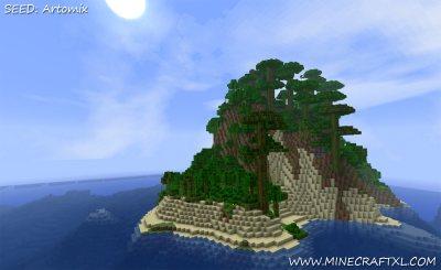 Minecraft Giant Survival Island Seed: Artomix
