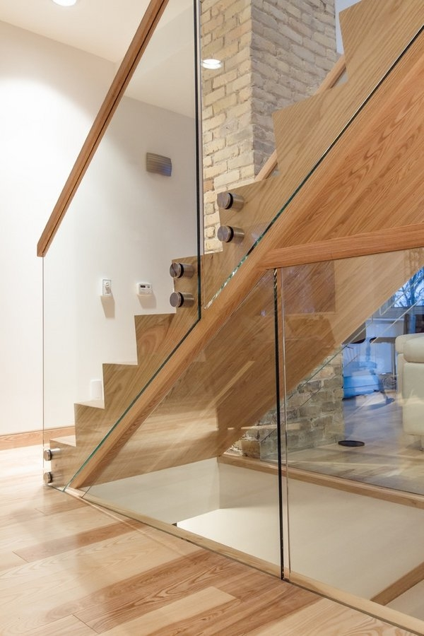 Handrail For The Staircase – How To Choose The Best One | Wooden Stairs Railing Design With Glass