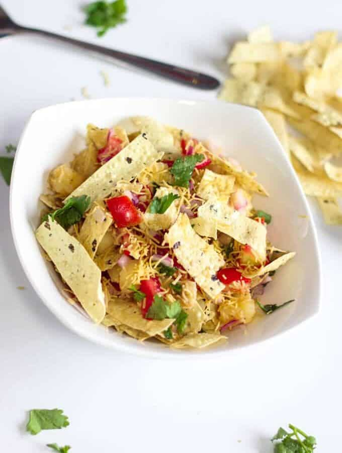 Papad Bhel Salad Recipe