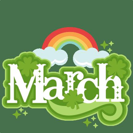 March Title Svg Scrapbook Cut File Cute Clipart Files For