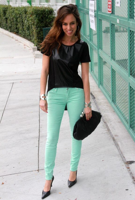 woman with Mint Green pant