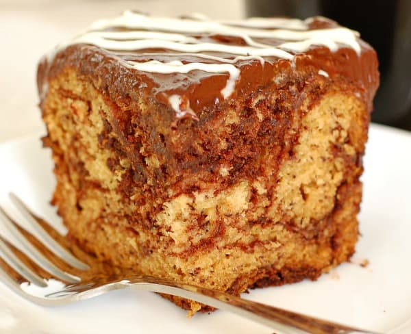 Luscious Chocolate Swirl Banana Cake   MJ Bakes A Lot Luscious Chocolate Swirl Banana Cake