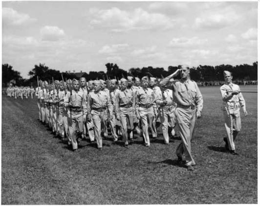 World War II  1941 1945    Historic Fort Snelling   MNHS Flag Day at Fort Snelling  1942  Source  MNHS Collections
