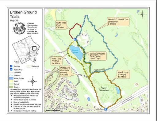 Concord Nh Hiking Trails Maplets