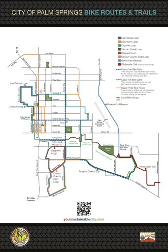 Palm Springs Bike Route Map Maplets