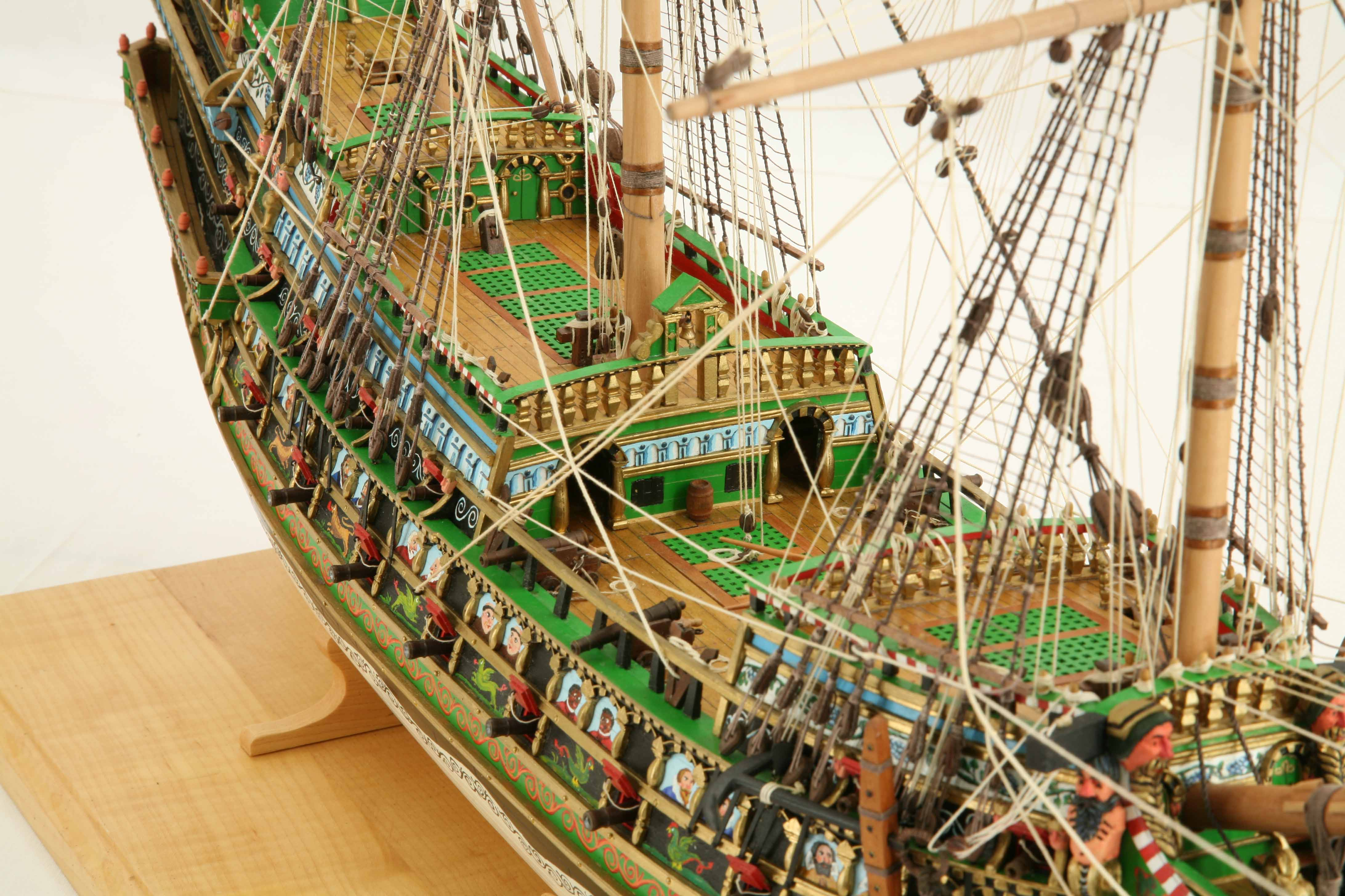 Photos Of Ship Model Galleon Of 1610 Close Up Views