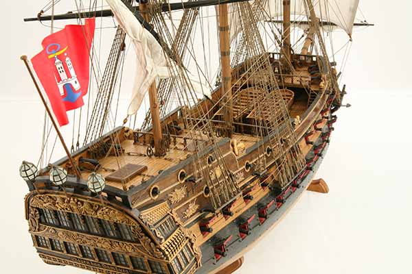 Photos Of Ship Model Wappen Von Hamburg Of 1720 Detail Views