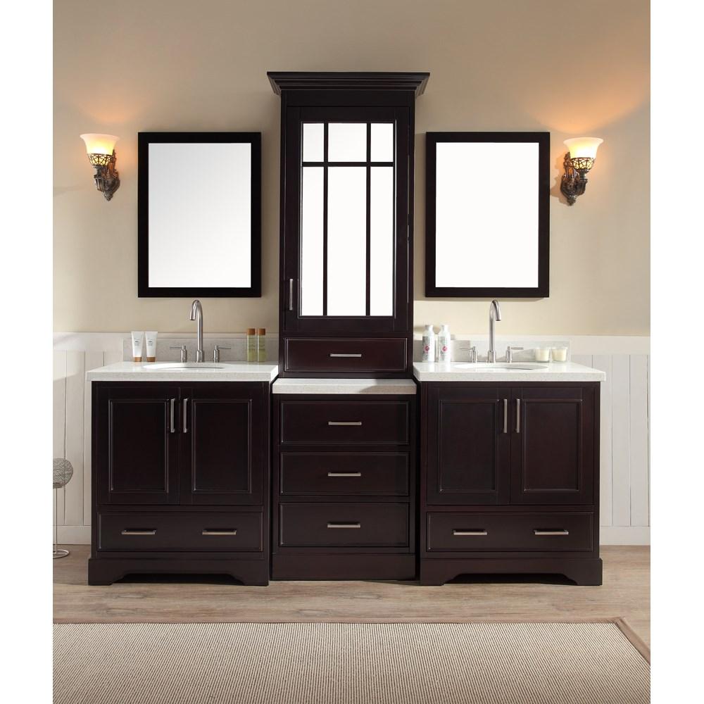 Cabinet Bathroom Sink Between Vanity Double Sinks
