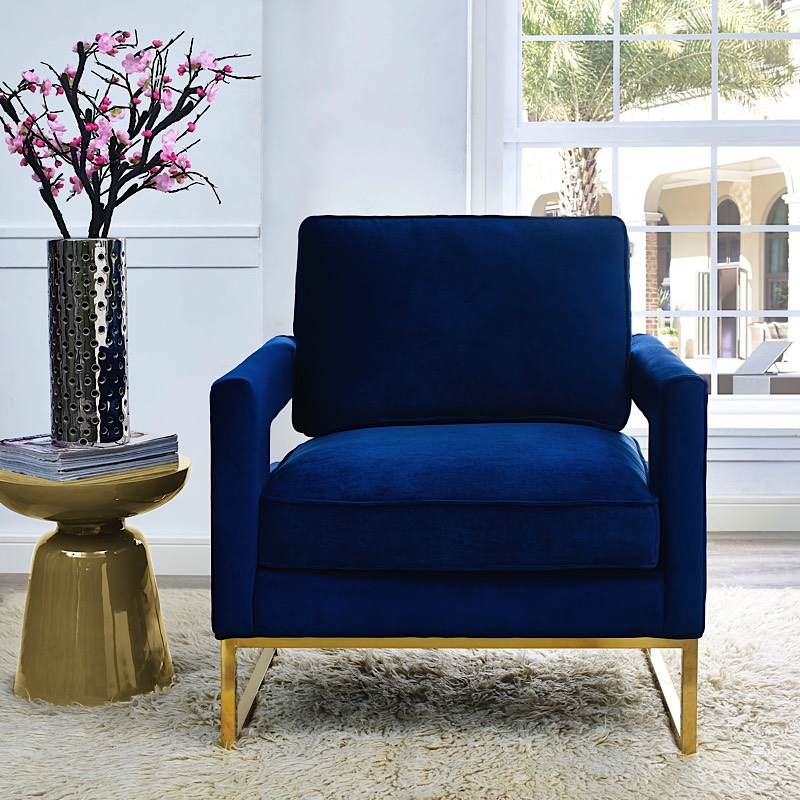 Navy Blue Occasional Chair