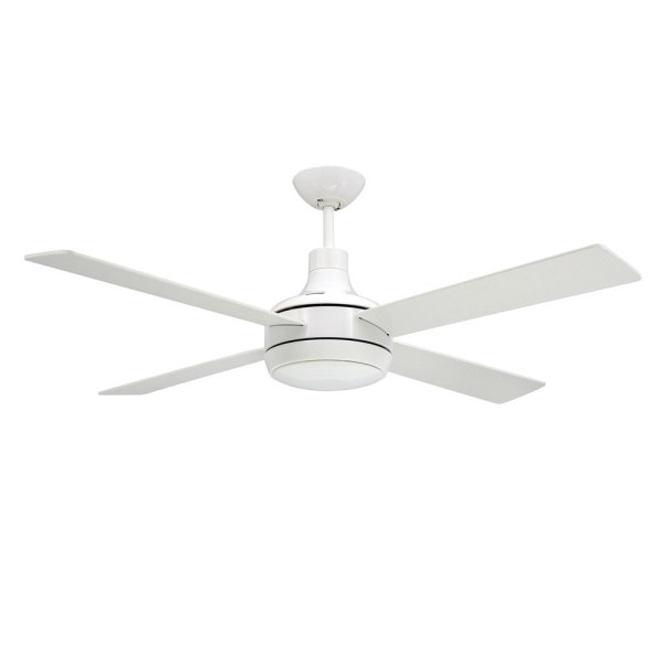 Quantum Ceiling by TroposAir Fans  Pure White Finish With Optional     Quantum Ceiling Fan Pure White   Light Optional