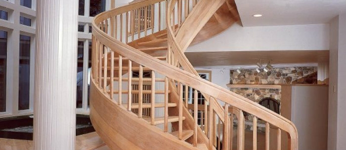 Trendy Spiral Wooden Staircase Modern Home Decor   Stairs Made Of Wood   5 Step   Elegant   Solid Oak   Traditional   3 Step