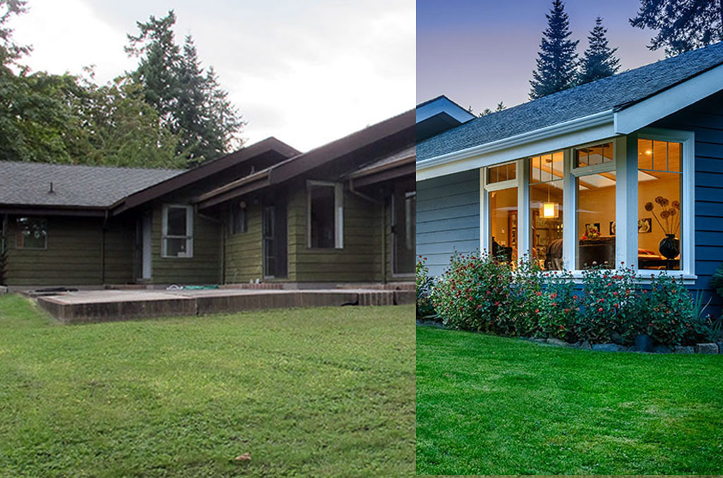 3 Dramatic Exterior Renovations Before And After Modern