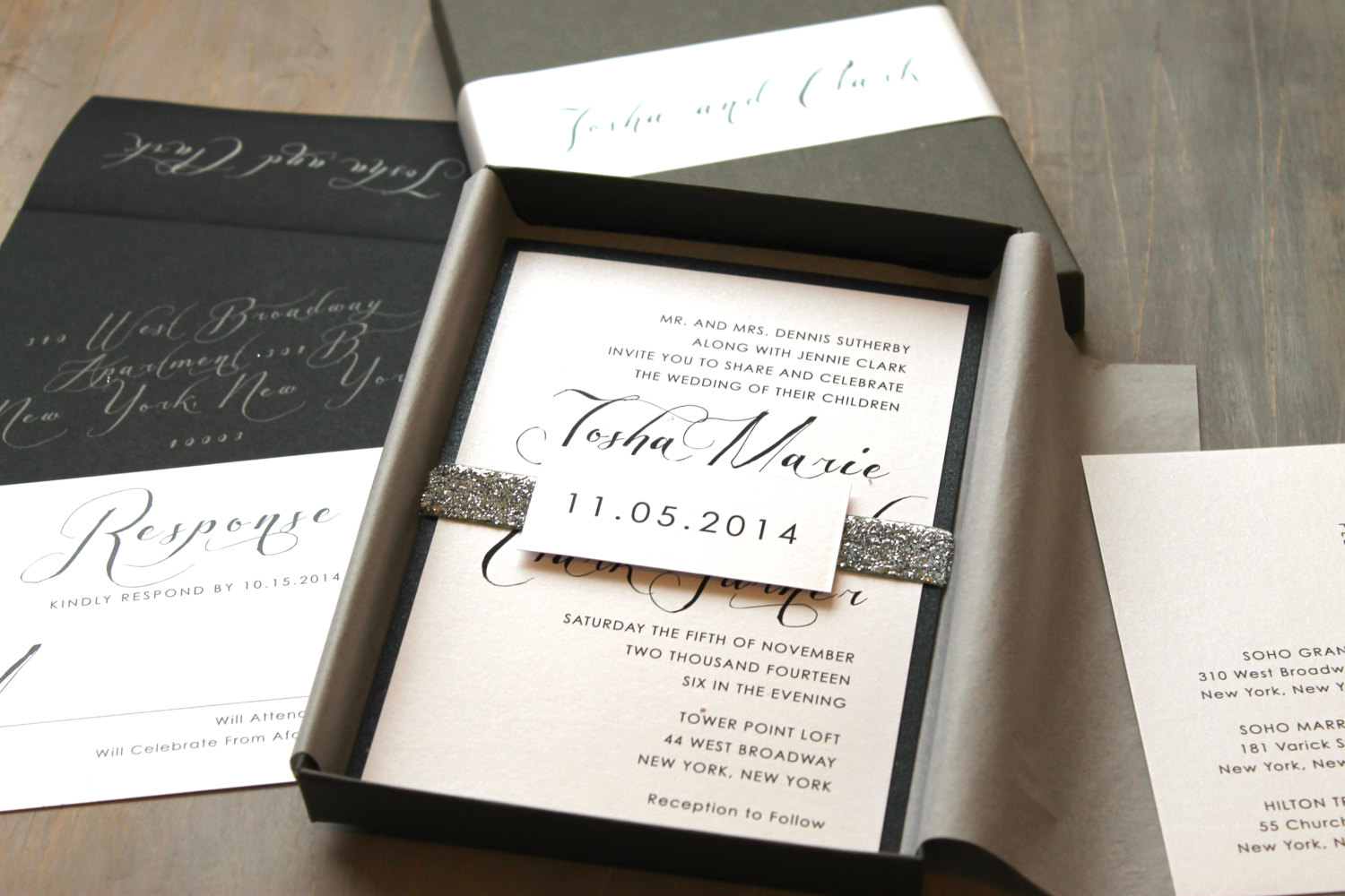 Quirky Wedding Guest Book